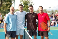 Tim Henman with Davis Cup players